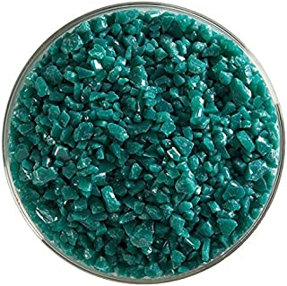 Teal Green Opalescent Fusible Glass Coarse Frit - 4oz - 90COE - Made from Bullseye Glass