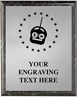 Couch Potato Plaques, Personalized Remote Controller Gamer Trophy Plaque Award, Great Custom Engraved Television Awards Prime