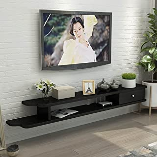 Meuble TV Flottant,Console TV en Bois Pour Salon,Unité de Divertissement avec Rangements Pour Bureau de Salle de Divertiss...