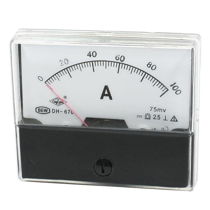 すり検査官閃光uxcell アナログ電流計 DH-670 DC0-100A クラス2.5精度 直流電流計