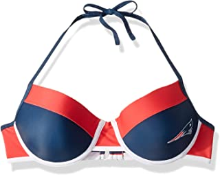 FOCO NFL New England Patriots Womens Team Logo Swim Suit Bikiniteam Logo Swim Suit Bikini, Top, X-Large