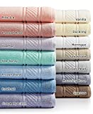 Martha Stewart Collection 100% Cotton Spa Bath Towel Collection (Sea Spray)