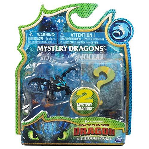 Dragons 6045092 - Movie Line - Mystery Dragons - 2er - Set, Sammelfiguren, Drachenzähmen leicht gemacht 3, Die geheime Welt