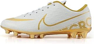 DFEDCLL Zapatos de fútbol, AG Masculina Larga uña Artificial Estudiante Hierba capacitación Competencia Antideslizantes Calzado Deportivo Transpirable Asesino del pie de la Piel,White,37