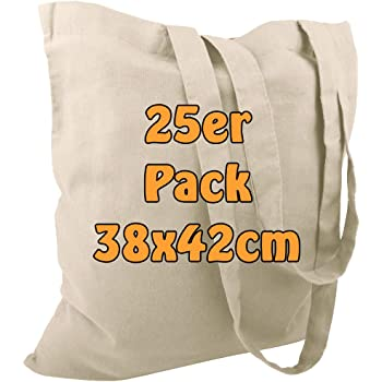 Cottonbagjoe - Bolsa de Yute (algodón, con Dos Asas largas, 38 x 42 cm): Amazon.es: Hogar