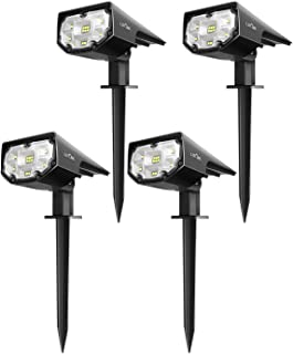 LITOM 12 LEDs Solar Landscape Spotlights, IP67 Waterproof Solar Powered Wall Lights..