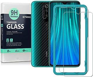 Ibywind ProtectordePantalla para Redmi Note 8 Pro [2 Piezas]con Cristal Templado para Lente de cámara TraseraAtrás Pegatina Protectora Fibra de CarbonoIncluyendo Kit de instalación fácil