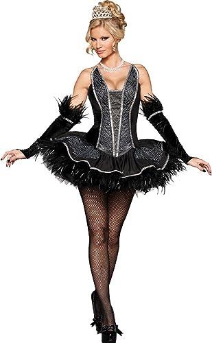 sexy Black Swan Kostüm - Schwarzr Schwan, Gr. S