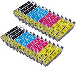Cartuccia Land - Pack de 24 cartuchos de tinta (recambio para Epson T0715, T0895) compatibles con Epson DX 4400, Stylus SX 218, Stylus D120, D78, D92, DX4000, DX4050, DX4400, DX4450, DX5000, DX5050, DX6000, DX6050, DX7000F, DX7400, DX7450, DX8400, DX8450, DX9400F, Office B40W, Office BX300F, Office BX310FN, Office BX600FW, Office BX610FW, S20, S21, SX100, SX105, SX110, SX115, SX200, SX205, SX210, SX215, SX218, SX400, SX405, SX410, SX415, SX510W, SX515W, SX600FW, SX610FW., D 78 92 120, DX 4000 4050 4400 4450 5000 6000 6050 7000 F 7400 7450 8400 8450 9400 B 40 W 300 F 310 FN 600 FW 610 S 20 21 SX 100 105 110 115 200 205 210 215 218 400 405 410 415 510 515 600 610, recambio para Epson T0715, T0895, T0711 , T0712 , T0713 , T0714 , T0891 , T0892 , T0893 , T0894 , TO711 , TO712 , TO713 , TO714 , TO891 , TO892 , TO893 , TO894