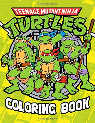 Teenage Mutant Ninja Turtles Coloring Book: Stress Relieving Ninja Turtles Designs Great Coloring Books for Adults