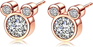 Best mickey mouse rose gold earrings Reviews