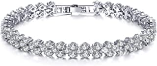 Sukkhi Crystals from Swarovski Platinum Plated Bracelet for Women and Girls (BC80980)