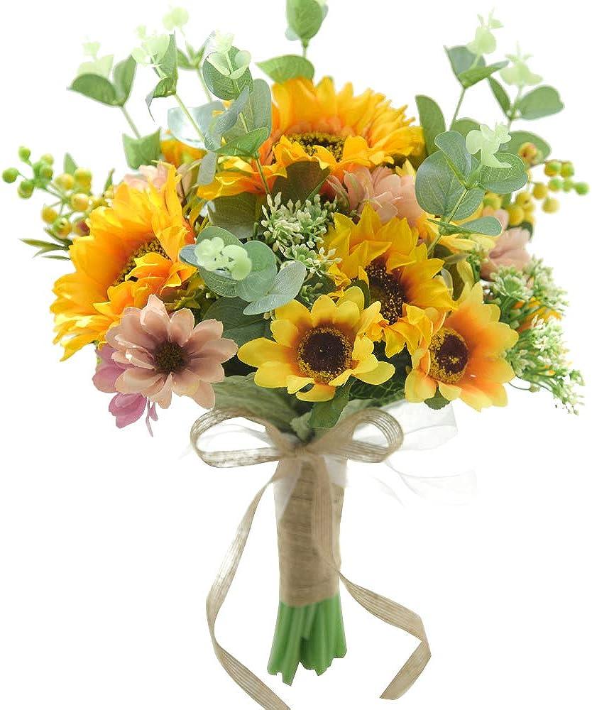 Sunflower Wedding Bouquet Decoration New mail order Surprise price Handma Artificial