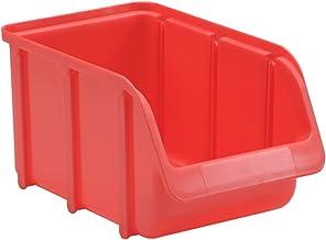 hünersdorff Zichtbox/stapelbox/opbergbox in maat 3, stapelbaar, kleur: rood