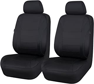 HOLIDAY SALE: CAR PASS Neoprene 6PCS waterproof Two front seat car seat covers set- Universal fit for vehicles, Car With 5mm Composite Sponge Inside,Airbag Compatiable(Black And Black)