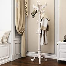 XYCSM kapstok kapstok kapstok kledingbroek sjaals tas paraplustandaard met haken, hoogwaardige houten boomkapstok standaar...