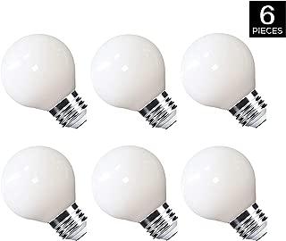 MRDENG Not Dimmable LED Light Bulbs 40 Watt Replacement, G16.5 3.5W Energy Saving LED Bulb, E26 Socket,Daylight Globe Light Bulb (5000K) Pack of 6