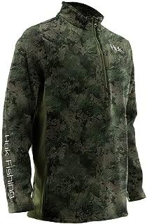Huk Men's Tidewater Camo Subphantis 1/4 Zip Fleece Long Sleeve Shirt