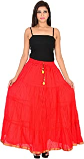 S-kart woman's red skirts