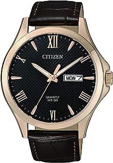 ساعة كاجوال تناظرية من الجلد للرجال من سيتيزن - بي اف 2023-01 اتش