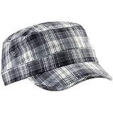 Beechfield Unisex Plaid Cadet Army Cap (One Size) (Gray Plaid)