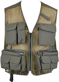 MU2M Men's Outdoor Breathable Photography Mesh Fishing Quick Dry Vest Waistcoat