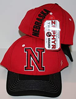University of Nebraska Corn Huskers Red Impact Mens/Womens Limited Edition Top Fitted Baseball Hat/Cap Size Medium Large