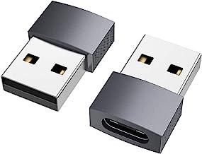 nonda Adaptador USB C a USB (2 Pack), USB-C Hembra a USB Macho, Adaptador de Cable de Cargador Tipo C para iPhone 11 12 Pr...