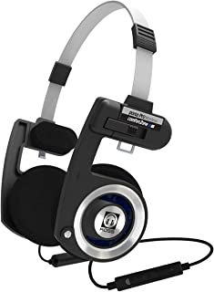 Koss Porta Pro Wireless Bluetooth On-Ear Headphones, in-Line Microphone, Volume Control and Touch Remote, Adjustable Headband with Multi-Pivoting Ear Plates, Black