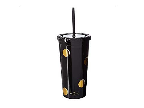 Kate Spade New York Scatter Dots Tumbler with Straw