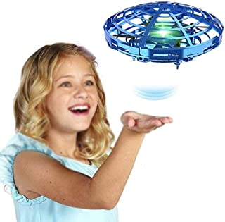 LSZZ Toddler Toys for 3 Year Olds Boys Flynova Flying Spinner Fidget Toy, Gyro Hand Operated Mini Drones with RGB LED Ligh...