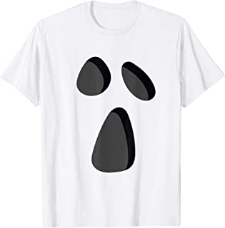Halloween Ghost Shirt Funny Lazy Costume Silly Face Ghoul T-Shirt
