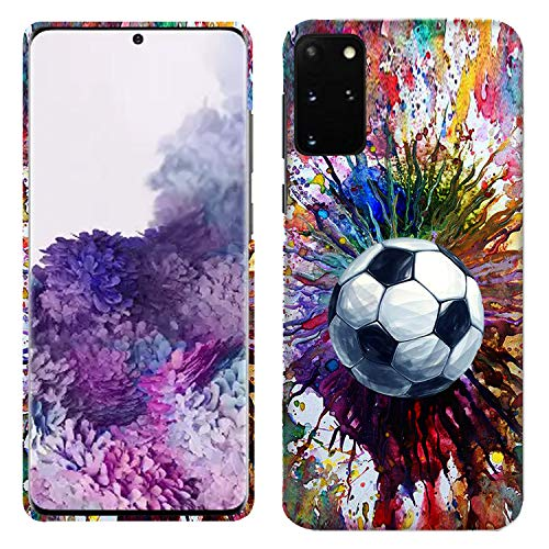Glisten Samsung Galaxy A51 Case - Vintage Color Soccer Printed Slim Fit & Cute Plastic Hard Snap on Designer Back Galaxy A51 Case/Cover [Not for A51 5G]
