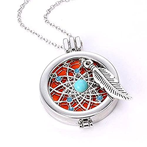 BeautyFou Chic Aromatherapy Necklace Essential Oils Diffuser Hollow Locket Pendant
