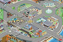 QUALITY DESIGN: This fun medium sized Car Playmat by Le Toy Van is perfectly scaled for many popular toy vehicles and playsets including Le Toy Van's own separately available vehicle and garage range. LET YOUR CHILD TAKE OVER THE TOWN!: This indoor c...