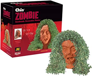 Chia Pet Zombie - Lifeless Lisa with Seed Pack, Decorative Pottery Planter, Easy to Do and Fun to Grow, Novelty Gift, Perf...