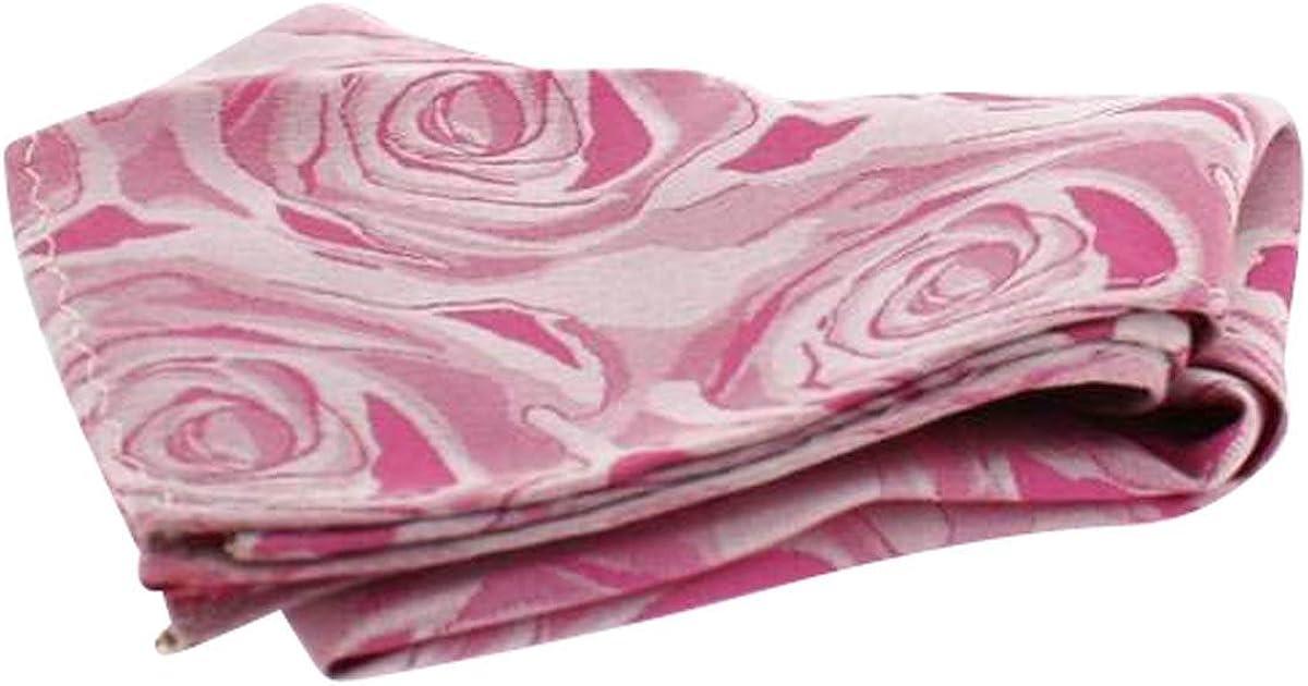 David Van Hagen Mens Wedding Rose Silk Handkerchief - Fuchsia