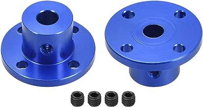 uxcell 6mm Inner Dia H15D15 Rigid Flange Coupling Motor Guide Shaft Coupler Motor Connector 2PCS for DIY Parts