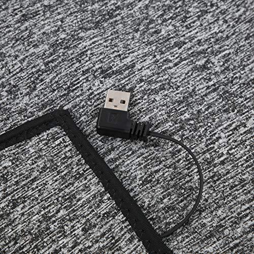 Seacanl Ropa con calefacción, Ropa de Abrigo Ligera, Chaqueta con calefacción de Invierno, USB para Deportes al Aire Libre(L)