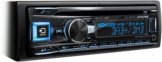 Radio para coches 200 W, pantalla LCD, USB, con Bluetooth, FM//LW//MW, 3 salidas de preamplificaci/ón negro Alpine CDE-196DAB