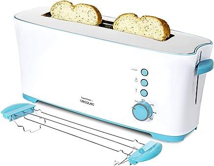 Cecotec Tostadora Toast&Taste 1L Con capacidad para dos tostadas, Ranura XL, 1000 W de potencia y 7 posiciones de tostado, función descongelar y función recalentar