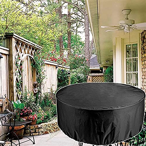 Garden Furniture Covers, 420D Heavy Duty Protection Windproof Anti-UV Circular Table Cover, Patio Furniture Table Covers Outdoor, Windproof, Anti-UV, Patio Table Protective Cover ( Size : 180*90CM )