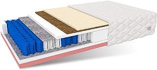 FDM Bali-Colchón (90 x 200 cm, 7 Zonas, núcleo de muelles ensacados, dureza H4/H3, látex Visco, Espuma de Poliuretano, 22 cm de Alto), 2