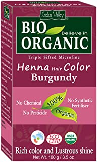 Indus Valley Burgundy Henna Hair Color-100% Pure & Natural