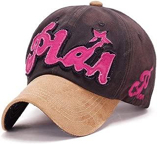 MEISUWANG Baseball Cap 100% Cotton Plain 6 Panel Baseball Caps for Men Women Embroidery Letters Plan Cap Suede Brim Sport Hat Sunhat