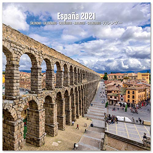 Grupo Erik Hiszpania 2021 kalendarz ścienny 30 x 20 cm (16 miesięcy) kalendarz rodzinny na rok 2021