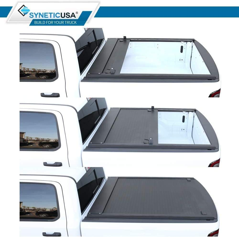 Syneticusa Aluminum Retractable Tonneau Cover Fits 2011-2021 Ford F-150 F150 5.5' 5'6