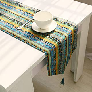 Chemin de Table Mariage Chemin de Table Lin Table à Manger pièce maîtresse Lavable Nappe Linge Chemin de Table Solide Coul...