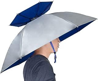 NEW-Vi Fishing Umbrella Hat Folding Sun Rain Cap Adjustable Multifunction Outdoor Headwear