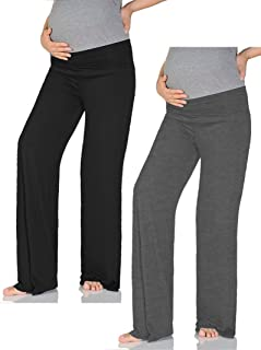 Women's Maternity Wide/Straight Comfortable Pants Made in USA